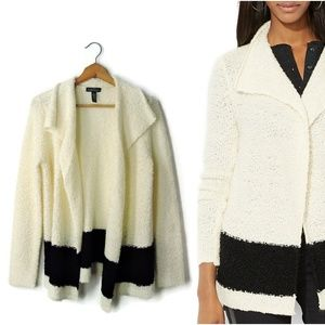 Ralph Lauren draped color block open cardigan